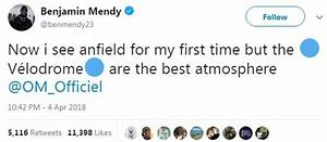 Benjamin Mendy sparks Twitter row after Anfield atmosphere ...