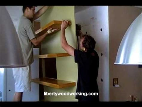 solid wood floating shelves youtube