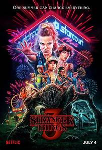 New, Stranger, Things, 3, Poster, Features, A, Mall, Monster, And