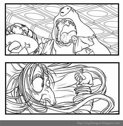 Coloring Spirited Away Detailed Template
