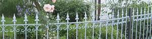 Zäune Aus Metall : gartenzaun aus metall verzinkt eleo ~ Markanthonyermac.com Haus und Dekorationen