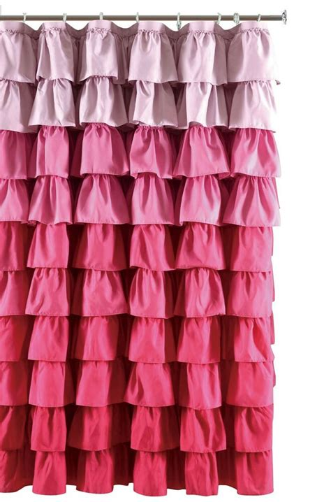 pink ruffle shower curtain ruffle fabric shower curtain color multi color pink ebay