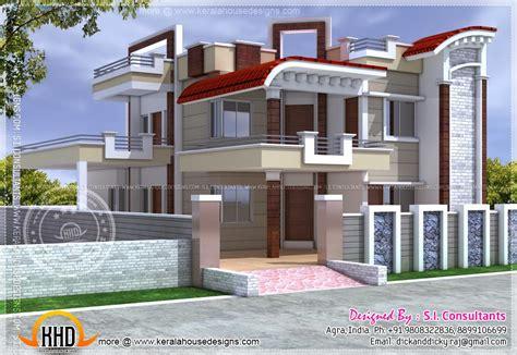 exterior design  house  india kerala home design