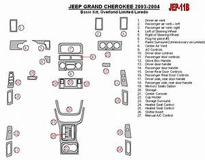 Jeep Grand Cherokee 03 04 Dash Trim Kit 2003 2004