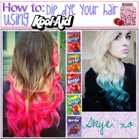 How To Dip Dye Hair With Kool Aids By Haley Q Musely