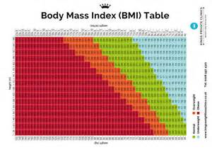 Printable BMI Chart Women