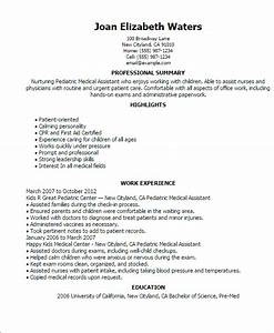pediatric medical assistant resume template best design With cma resume examples