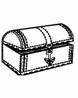 Treasure Coloring Chest Printable Nearly Opened sketch template
