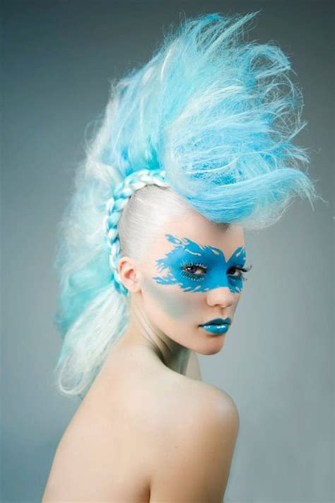 daily hair spotting cotton candy blue mohawk strayhair