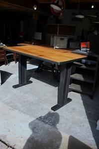Table Mange Debout Style Industriel : table mange debout ipm sur mesure industriel m tal bois style industriel pinterest ~ Melissatoandfro.com Idées de Décoration