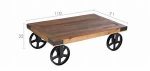 Roue Industrielle Pour Table Basse : table rabattable cuisine paris roue table basse ~ Nature-et-papiers.com Idées de Décoration