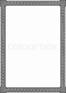 Bilder Mit Weißem Rahmen : eleganter rahmen mit antiken griechischen m ander muster schwarz illustration isoliert auf ~ Indierocktalk.com Haus und Dekorationen