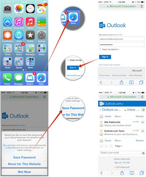 how to access web on iphone how to set up microsoft outlook mail calendar contacts