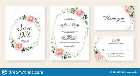 Floral Wedding Invitation Save The Date Thank You Rsvp