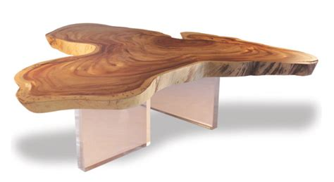 free form wood coffee tables free form wood floating cocktail table clear acrylic