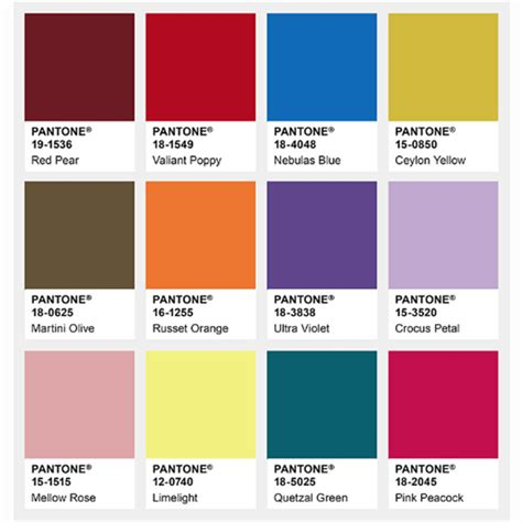 what is pantone color pantone colour trends aw18