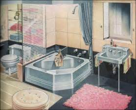 1940s bathroom design 1948 american standard bathroom pink blue midcentury bathrooms 1950s retro style square