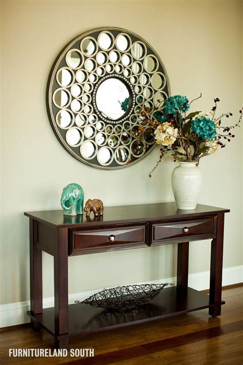 delightful foyer tables  mirrors image decor  entry