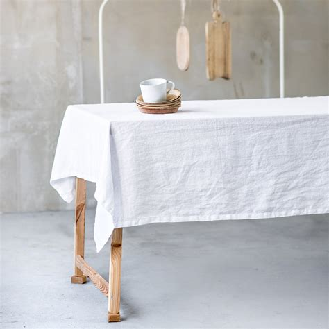 extra long white table cloth white linen tablecloth washed white large handmade linen