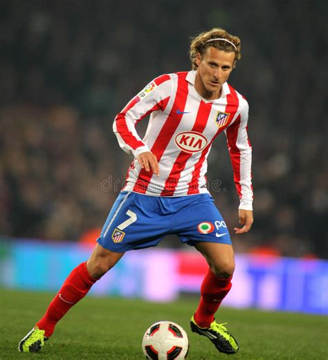 Diego Forlan Of Atletico Madrid Editorial Stock Image ...