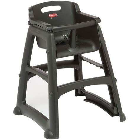 rubbermaid fg781408bla 29 75 quot stackable high chair w