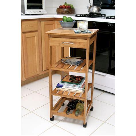 kitchen islands with wine racks lipper international bamboo kitchen cart with wine rack