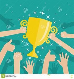 Soccer Football Gold Trophy For Winner. Stock Vector ...