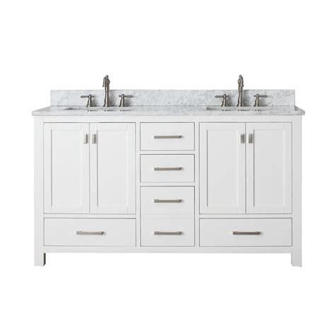 White Bathroom Vanity With Marble Top by Avanity Modero 61 In White Sink Bathroom Vanity