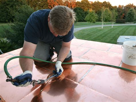 installing  flat seam copper roof jlc  roofing