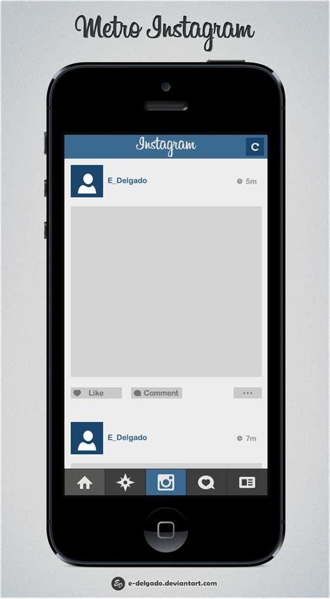 instagram app for iphone metro instagram by e delgado on deviantart