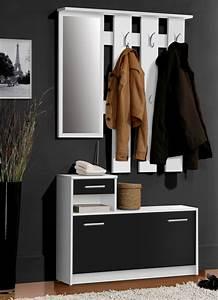 Meuble Chaussure Noir : vestiaire foxi blanc noir ~ Teatrodelosmanantiales.com Idées de Décoration