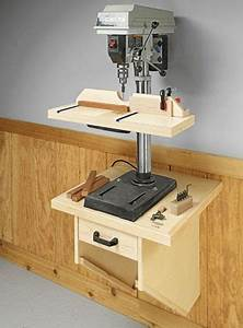 Wall-Mounted Drill Press Table Woodsmith Plans