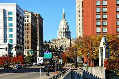 Michigan Lansing Downtown State Capitol Economy County