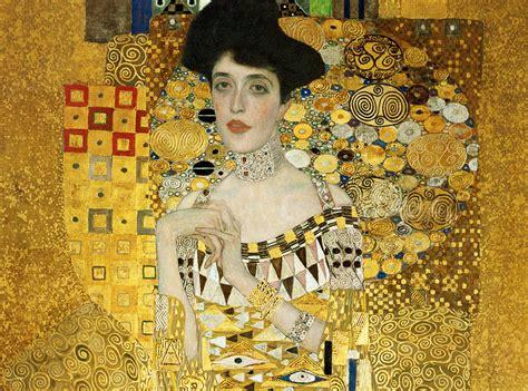 Klimt La by Gustav Klimt Portrait Of Adele Bloch Bauer I Detail