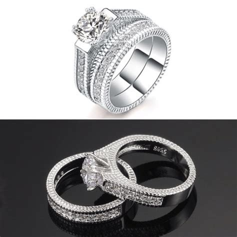 white gold plated wedding ring set konga online shopping