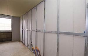 Poser Placo Mur Avec Rail : syst me de contre cloison avec plaque et isolant rigide knauf easy click syst me de contre ~ Melissatoandfro.com Idées de Décoration
