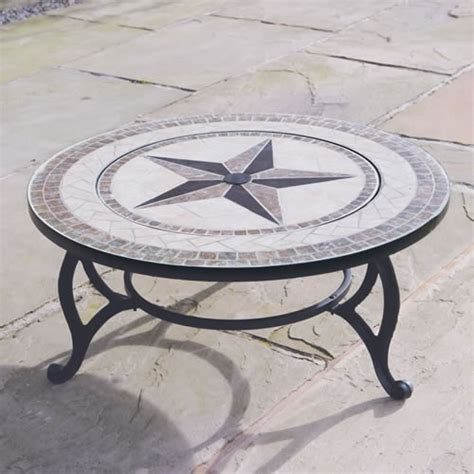 outdoor garden tiled coffee table pit bbq barbecue
