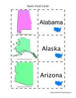 Identifying Verbs Worksheet Us States And Capitals Flash Cards Identify States By Shape Teaching
