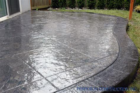 textured concrete patio scored textured concrete patio and landscaping pinterest