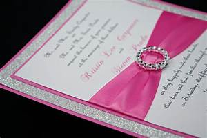 pink wedding invitation full of bling sparkle and by With red rhinestone wedding invitations