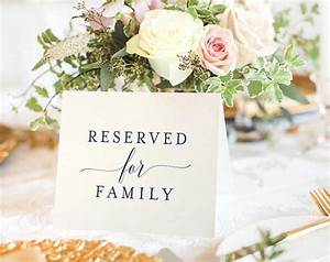 Free Reserved Printable  Reserved Wedding Sign  Reserved