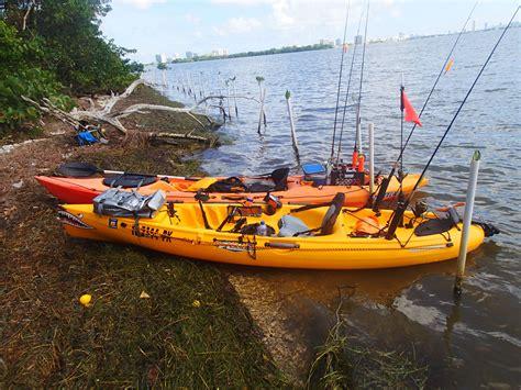 fishing kayak club picnic island legion florida miami fl south taking break