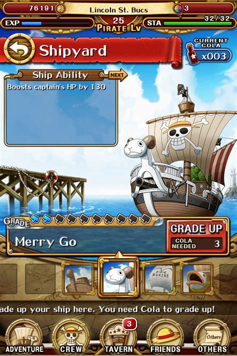 Ship Optc by One Piece Treasure Cruise Tips Cheats And Strategies
