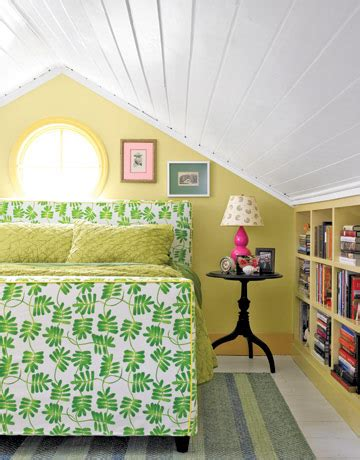 Yellow And Green Bedroom  Hooked On Houses