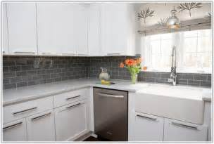 gray glass subway tile backsplash tiles home