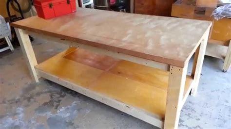 building  heavy duty workbench youtube