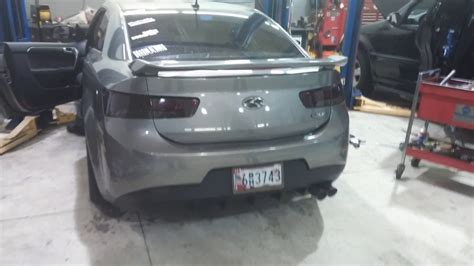 Kia Forte Koup Exhaust by Kia Forte Koup Turbokits Exhaust Revs