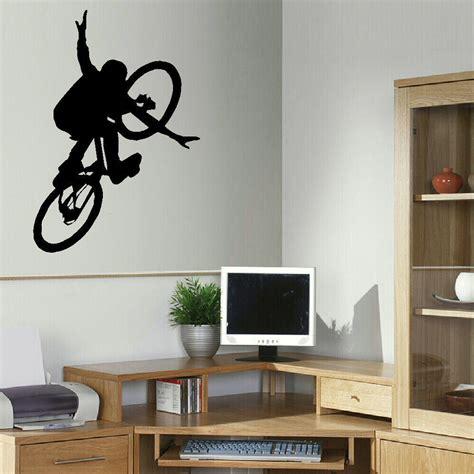 free shipping bmx bike children art bedroom wall big mural