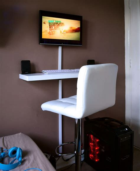 small desk ideas diy tiny workspace with a clever small diy computer desk