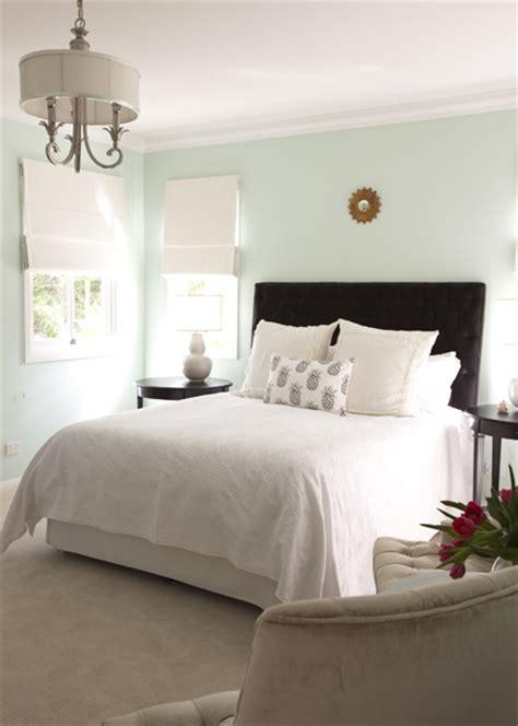 brown tufted headboard transitional bedroom porchlight interiors